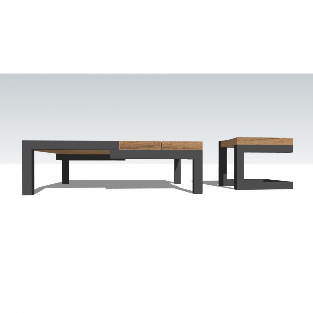 Table basse no niveau creatine shop - Table basse design carree ...